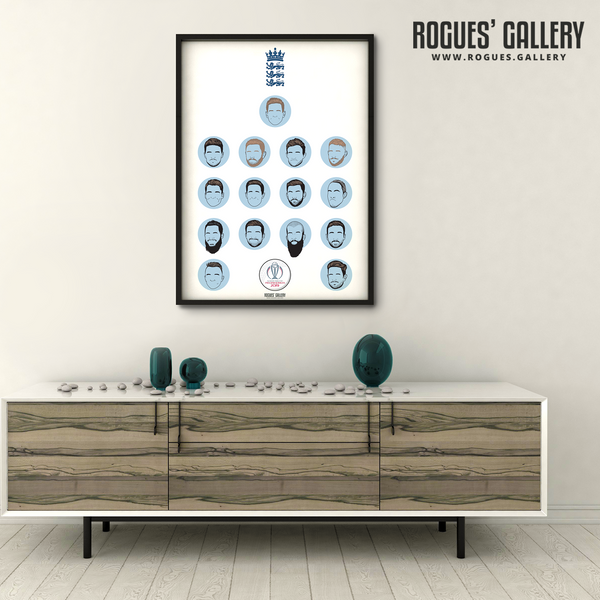 England Cricket World Cup Lords custom art Winners Buttler Roy Woakes Jofra Archer