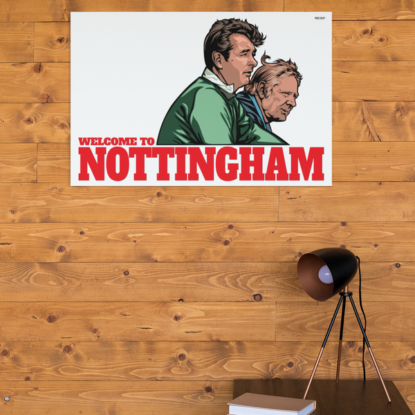 Brian Clough & Peter Taylor management duo Nottingham Forest genius superb custom artwork