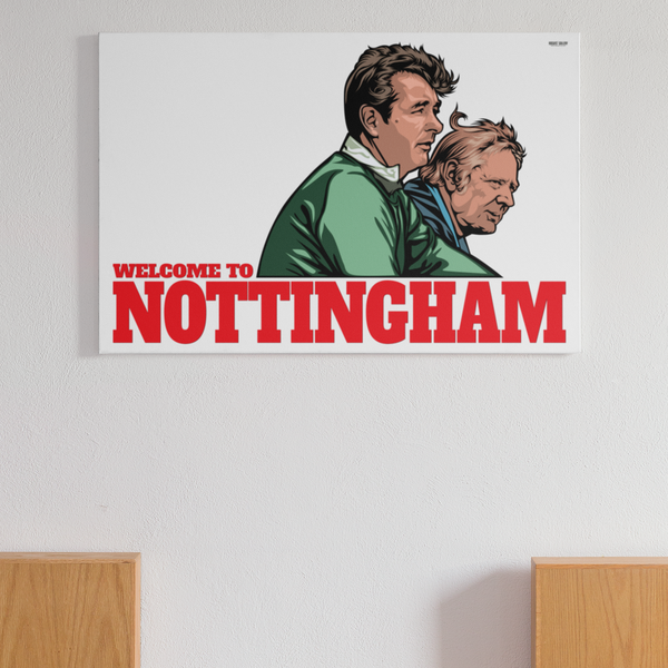 Brian Clough & Peter Taylor manager Nottingham Forest genius European Cup Winners custom artwork