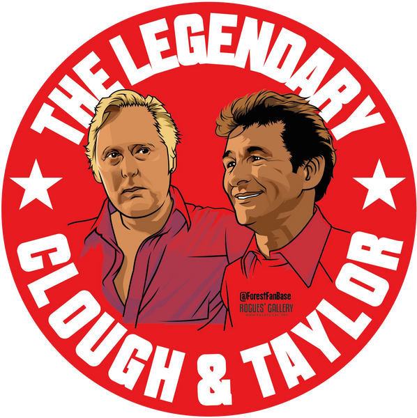 Brian Clough Peter Taylor Nottingham Forest Sticker #GetBehindTheLads