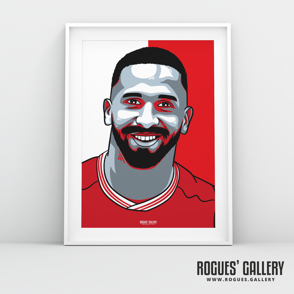 Cafu midfielder Nottingham Forest FC The City Ground NFFC A3 print