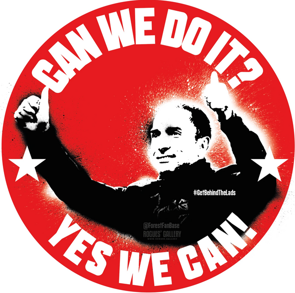 Sabri Lamouchi Can We Do It Nottingham Forest Manager sticker #GetBehindTheLads