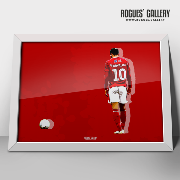 Joao Carvalho Nottingham Forest A3 Print Poster artwork edit