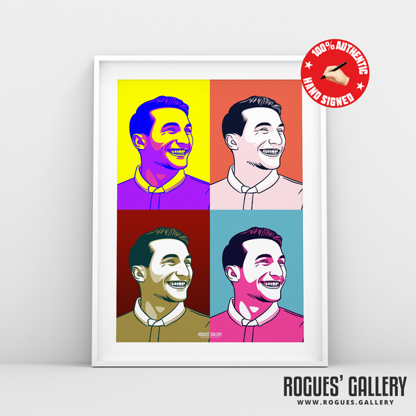 Joao Carvalho City Ground Nottingham Forest winger signed pop art #GetBehindTheLads