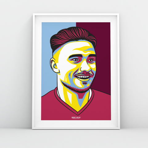 Matty Cash Aston Villa right back Forest A3 print