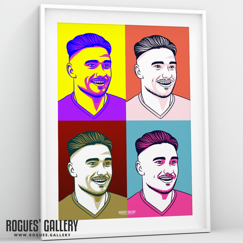 Pop art Matty Cash Nottingham Forest City Ground right back A3 print