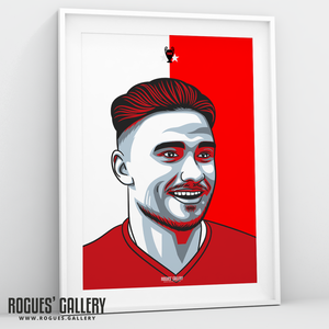 Matty Cash Nottingham Forest City Ground right back A3 print