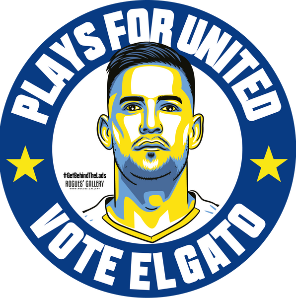 Kiko Casilla Leeds United goalkeeper el gato beer mats Vote #GetBehindTheLads