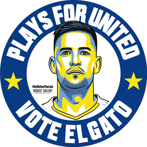 Kiko Casilla Leeds United goalkeeper stickers Vote #GetBehindTheLads