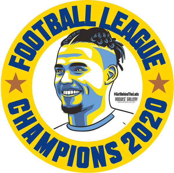 Leeds United Champions Stickers 2020 title Kalvin Phillips