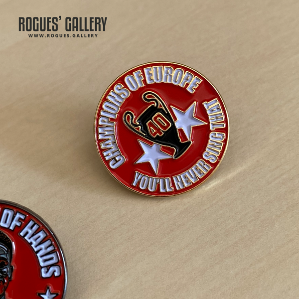 Nottingham Forest Champions of Europe You'll never sing that lapel pin