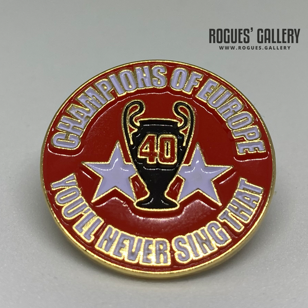 Nottingham Forest Champions of Europe You'll never sing that pin for sale