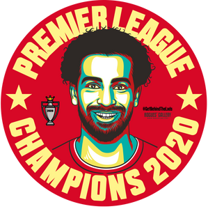 Liverpool Premier League Champions beer mats 2020 title Mo Salah
