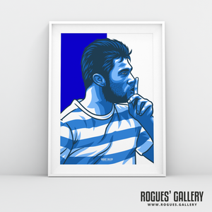 Charlie Austin QPR Loftus Road Queen Park Rangers Commission striker goals icon A3 print