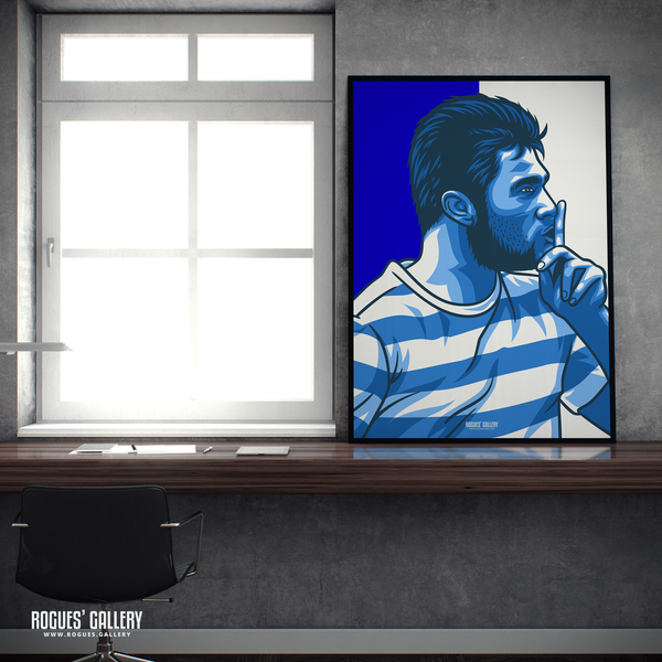 Charlie Austin QPR Loftus Road Queen Park Rangers Commission striker goals icon A2 A1 art print