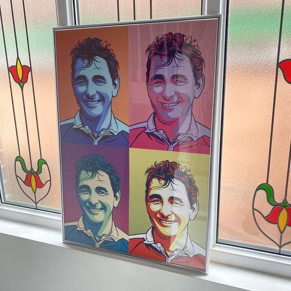 Brian Clough Nottingham Forest City Ground pop art portrait A1 big