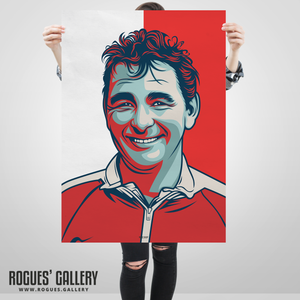 Brian Clough Nottingham Forest genius superb custom artwork A1 art print