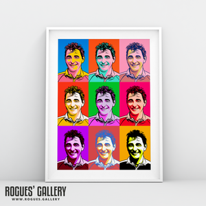 Brian Clough Nottingham Forest City Ground pop art portrait