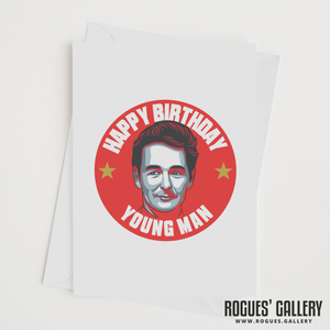 "Brian Clough Nottingham Forest Manager Happy Birthday young Man Birthday card 6x9"" NFFC"