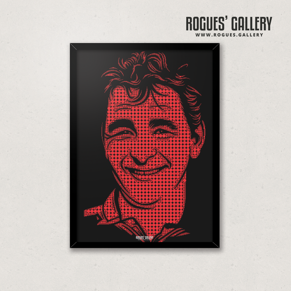 Brian Clough Nottingham Forest manager A3 print minimal dots cloughie