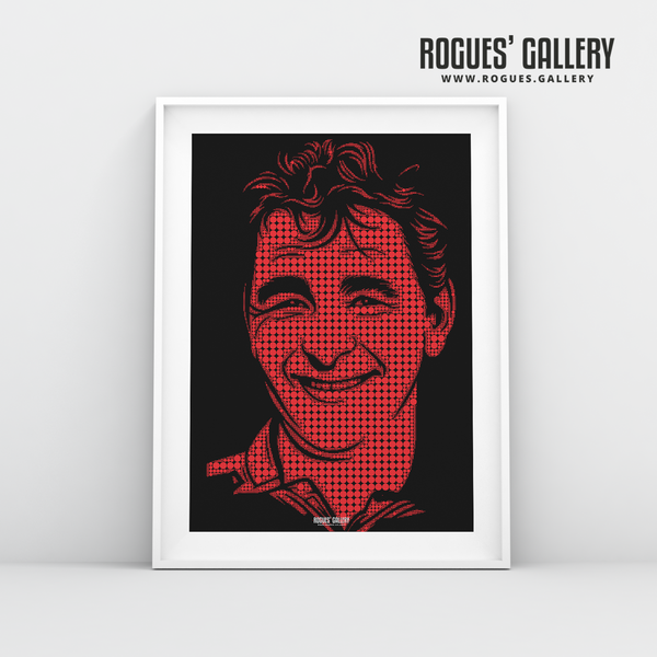 Brian Clough Nottingham Forest genius superb custom artwork minimal dots