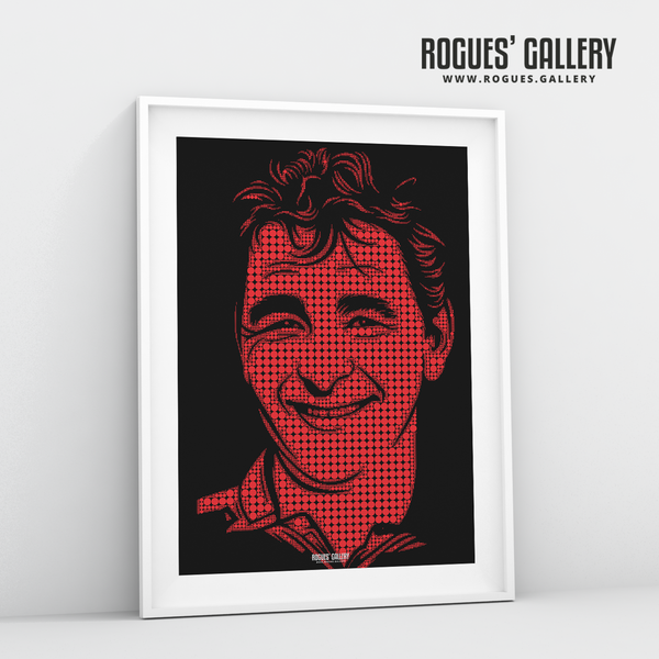 Brian Clough Nottingham Forest manager boss superb custom artwork minimal dots