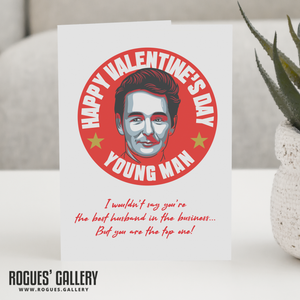 Husband Cloughie Nottingham Forest Top One Valentine's Day Card Brian Clough NFFC