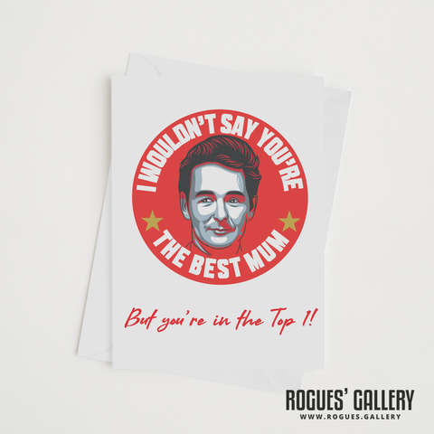 "Brian Clough Nottingham Forest Manager Mother's Day card 6x9"" NFFC top 1"
