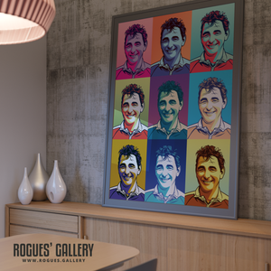 Brian Clough Nottingham Forest City Ground pop art portrait A0