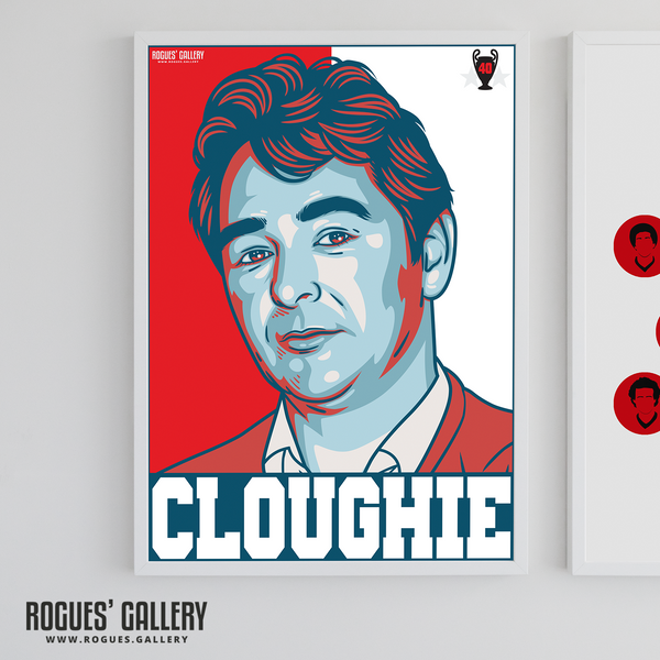 Brian Clough Cloughie Nottingham Forest Manager A3 Print