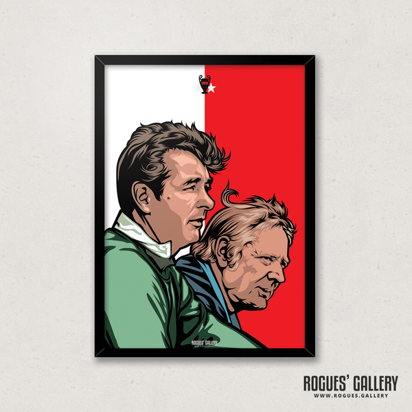 Brian Clough & Peter Taylor management team City GroundNottingham Forest A3 Print edit edits