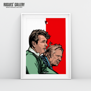 Brian Clough & Peter Taylor Nottingham Forest A3 Print
