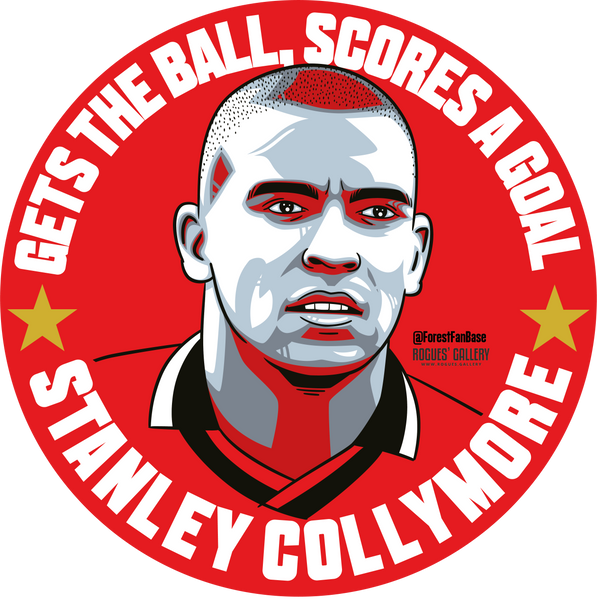 Stan the man Stanley Collymore Nottingham Forest striker forward deluxe stickers #GetBehindTheLads