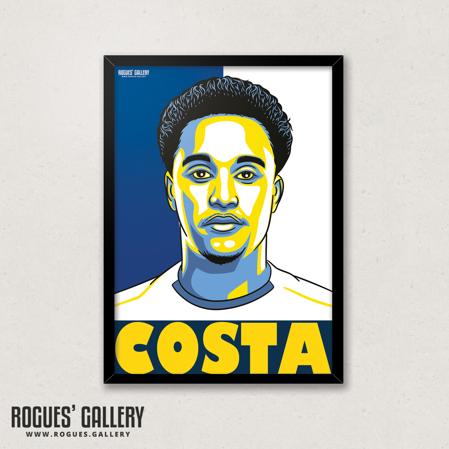 Helder Costa Leeds United FC winger A3 art print design