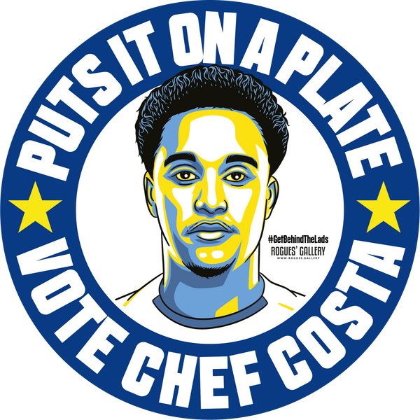 Helder Costa Leeds United winger stickers Vote #GetBehindTheLads