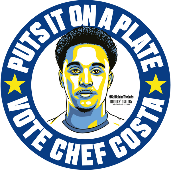 Helder Costa Leeds United beer mats Vote #GetBehindTheLads