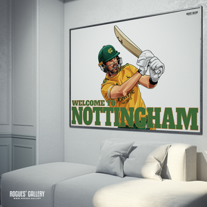 Dan Christian Noots Outlaws Aussie captain VitalityT20  Champions 2020 Trent Bridge A3 Print