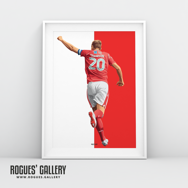 Michael Dawson Nottingham Forest punch captain NFFC City Ground central defender A3 prints red white