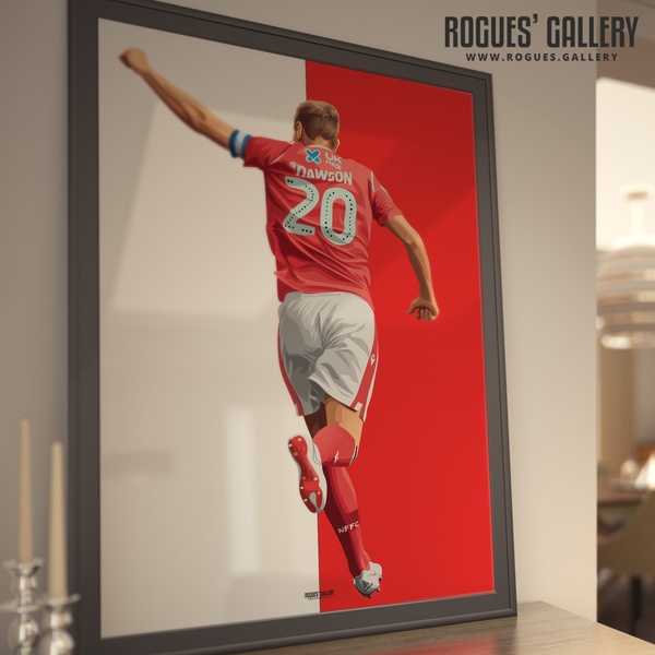 Michael Dawson Nottingham Forest punch captain NFFC City Ground central defender A1 prints