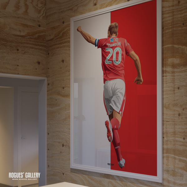 Michael Dawson Nottingham Forest punch captain NFFC City Ground central defender legend limited edition