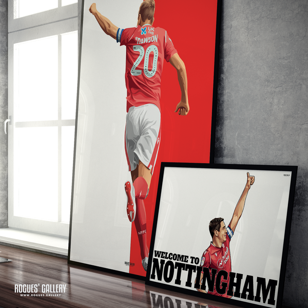 Michael Dawson Nottingham Forest captain NFFC City Ground central defender A3 prints