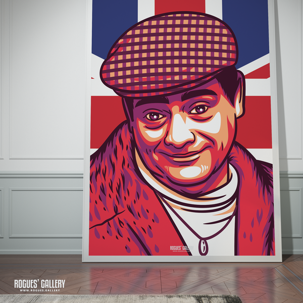 Del Boy Only Fools and horses David Jason Trotters Independent Traders Peckham BBC Tv legend A0 print