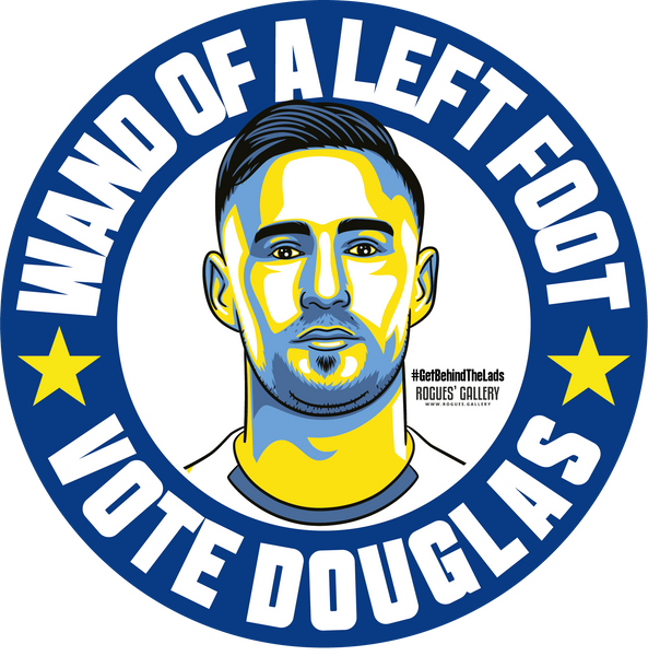 Barry Douglas Leeds United defender campaign stickers Vote #GetBehindTheLads