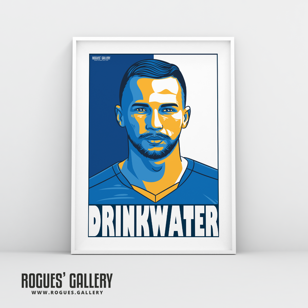Danny Drinkwater midfielder Leicester City LCFC Foxes Premier League Champions A3 Print