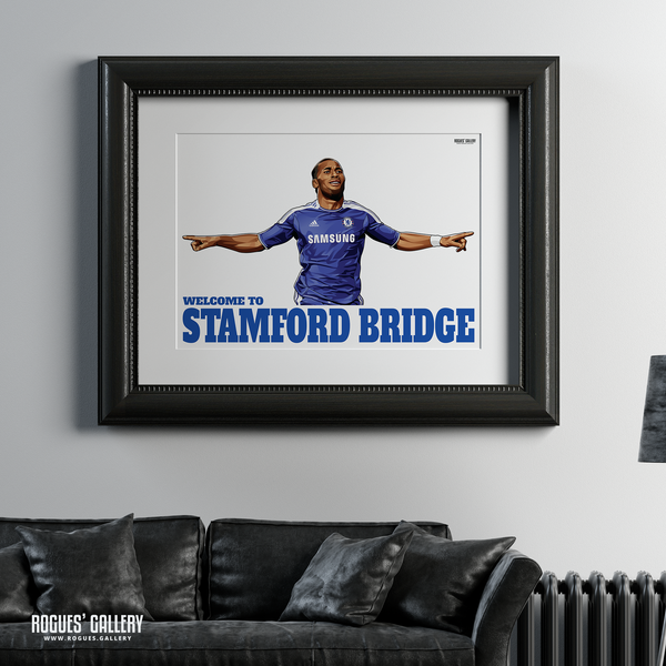 Didier Drogba Chelsea Welcome To Stamford Bridge striker Ivory Coast goals A1 print
