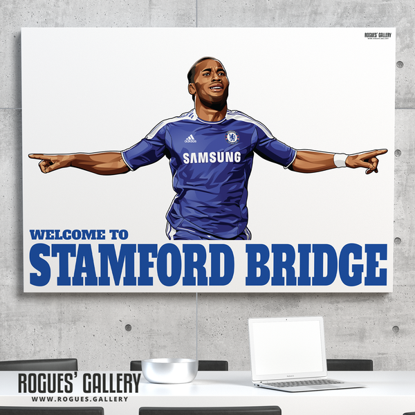 Didier Drogba Chelsea Welcome To Stamford Bridge striker Ivory Coast goals great gift signed fan