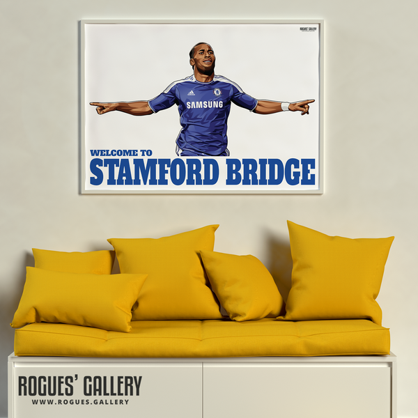 Didier Drogba Chelsea Welcome To Stamford Bridge striker Ivory Coast goals limited edition art