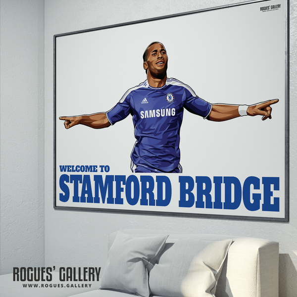 Didier Drogba Chelsea Welcome To Stamford Bridge striker Ivory Coast goals A0 print