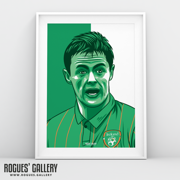 Damien Duff Republic of Ireland winger A3 print edit