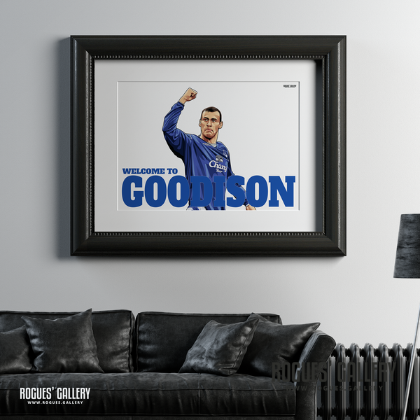 Duncan Ferguson Everton Welcome To Goodison Park striker goals A1 print